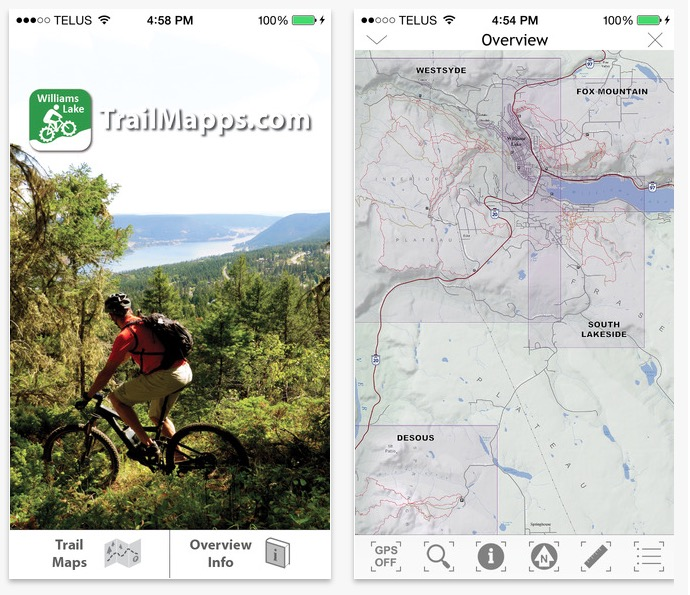 williams lake trail maps app on the app store